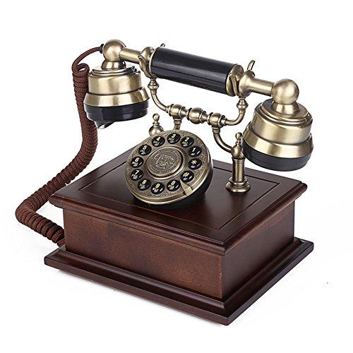 Massivem holz vintage dekorative telefone,Rotary dialing Retro-telefon mit schnur 268 * 240 * 280 mm-A