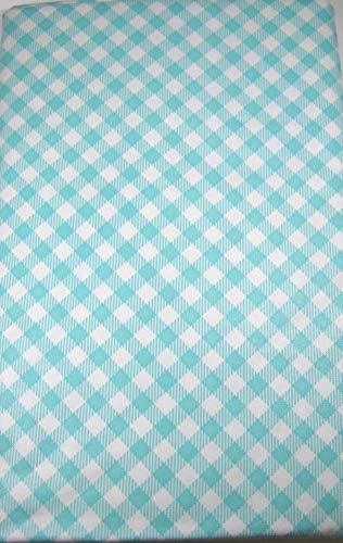 Summer Fun Tischdecke mit Lochung und Reißverschluss, Flanellrückseite, Vinyl, Verschiedene Größen 70 Round Aqua and White -