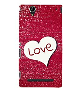EPICCASE glittery love Mobile Back Case Cover For Sony Xperia T2 (Designer Case)