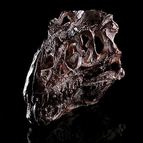 LQK-Tyrannosaurus Rex crâne résine crâne crâne Halloween cadeau à domicile enseignement médical aide , skeleton head