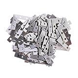 MagiDeal 100er Set Metall Flachverbinder L-Form Lochplatte Befestigung Holzverbinder Lochbleche Nagelplatten