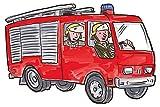 Wandtattoo Kinderzimmer Feuerwehr Auto mit Feuerwehrmännern Wandsticker für Wandtattoo Kinderzimmer Feuerwehr Auto mit Feuerwehrmännern Wandsticker