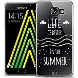 Caseink - Coque Housse Etui Samsung Galaxy A5 2016 (A510) [Crystal HD Collection Summer Design Life s Better - Rigide - Ultra Fin - Imprimé en France]