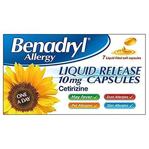 Benadryl Allergy Liquid Release - Pack of 7 Capsules