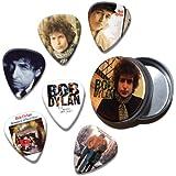 Bob Dylan Set of 6 Loose Púa Para Guitarra in Tin ( Collection A )