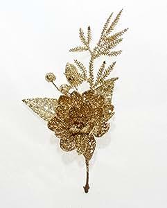 6 Pick Di Ninfea Glitterata Oro
