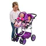 New Kids Purple Dimples Ella Tandem Stroller Twin Doll Pram