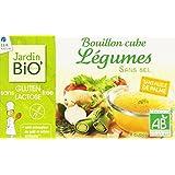 Jardin Bio Bouillon Cube Légumes sans Sel sans Gluten 72 g - Lot de 6