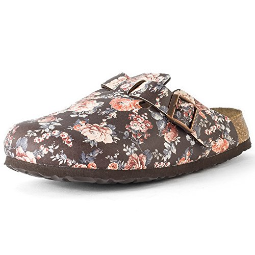 Birkenstock Boston Bf, Sabots femme Marron - Brown (Rambling Rose Brown Soft)