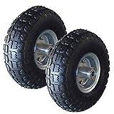 britoniture 2x Ersatz 25,4cm Pneumatische Rad Sack Sackkarre Handwagen Schubkarre Reifen