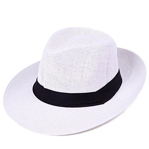 JIANCHIJY Le Chapeau Masculin Summer Jazz Chapeau De Paille Holiday Sun Hat Chapeaux De Plage
