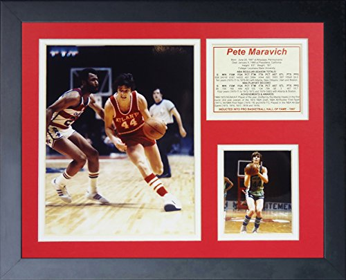 "Price comparison product image Legends Never Die ""Pistol Pete Maravich"" Framed Photo Collage, 11 x 14-Inch"