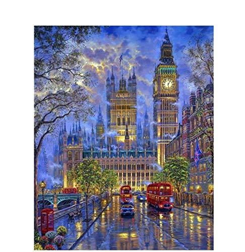 Puzzle 3D Puzzle 1000 Piezas Diy Envío Londres Big Ben Paisaje Imagen Sala De Estar Regalos Únicos Decoración De Lino