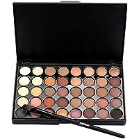 Tefamore Sombra De Ojos Mate Cosmético Crema de Maquillaje Paleta Shimmer Set 40 Color + 1PCS Juego de Pincel/Brocha