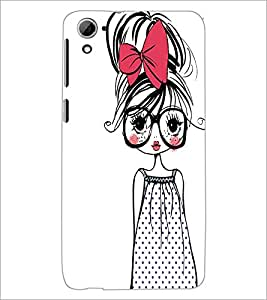 PrintDhaba Girl with Specs D-2319 Back Case Cover for HTC DESIRE 826 (Multi-Coloured)