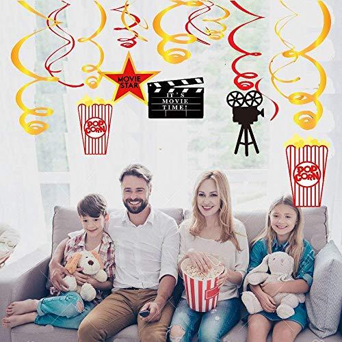�nge-Deko/Hollywood Girlanden /Film Folie Swirl Hängende Dekorationen, Hollywood Film Themen Hängende Swirl Oscar Party Decor Favors Supplies ()