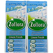 2 x Zoflora Concentrated Antibacterial Disinfectant linen fresh 500ml