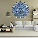 Ouneed® Wandaufkleber Wandtattoo Wandsticker , Mandala Blume Indische Schlafzimmer Wohnzimmer Wandaufkleber Aufkleber Kunst Mural Home (Blau)