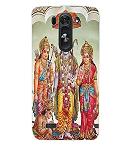 ColourCraft Lord Ram Laxaman Janaki and Hanuman Design Back Case Cover for LG D722 K