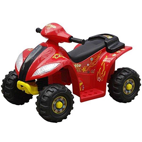 vidaXL Mini moto quad elettrica per bambini, rosso e nero