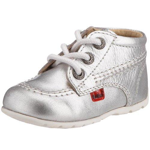 Kickers Kick Hi B, Baby Girls' Walking Baby Shoes, Silver (Silver), 3...