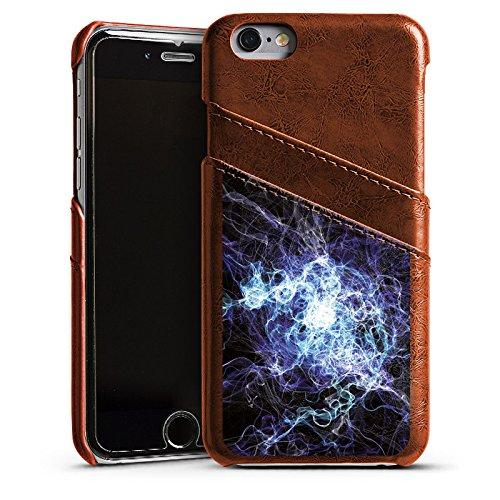 Apple iPhone 5s Housse étui coque protection Électricité Éclair Électricité Étui en cuir marron