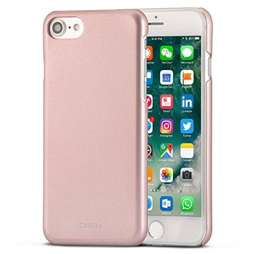 CASEZA iPhone 8 Hülle/iPhone 7 Hülle Rose Gold Rio Case Back Cover mit Mattem Finish - Premium Hard Case Bumper mit Gummierter Oberfläche für Angenehme Haptik Hochwertige Schutzhülle Ultra Slim -