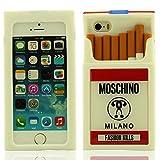 Générique Créatif Conception 3D Boîtes à Cigarettes Forme Anti Choc Silicone Housse Étui de Protection Coque Case pour Apple iPhone 5 5S 5G 5C iPhone Se