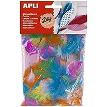 Apli Kids - Plumas para manualidades (14 g), varios colores