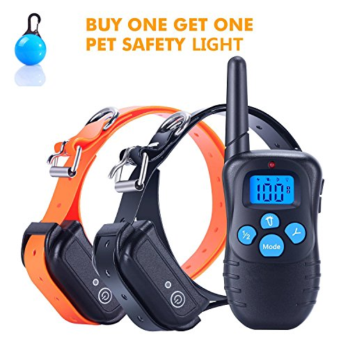 [2018 100% Wasserdichter und wiederaufladbarer Hund gut gut 330 Yard Remote Dog Training gut mit Beep/Vibra/Well Well E-Well