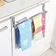 Casa Copenhagen Stainless Steel Towel Bar Holder Kitchen Cabinet Cupboard Door Hanging Rack Storage Hook Accessories (Silver