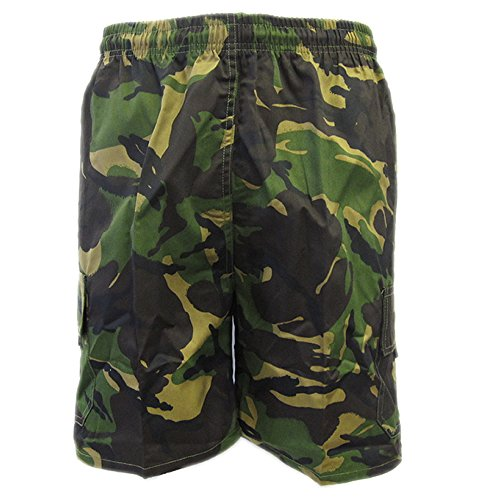 Army And Workwear Herren Short WOODLAND - GREEN/BROWN army camouflage (Camo Military Woodland Shorts)