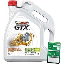 5L Litros Castrol Gtx 10W-40A3/B4Motor de aceite motores de aceite Incluye Castrol ölwechsel de colgante; Especificaciones/freigaben: API SL/CF; ACEA A3/B4; VW 50101/50500Uso compartido de; MB 229.1; FIAT 9.55535de D2