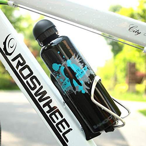 Modenny 750 ml Tragbare Outdoor Fahrradschale Aluminiumlegierung Fahrrad Tassen Radfahren Sport Trinken Krug Wasserflasche Große Kapazität Büro Wasser Tasse Tour Fahrradflasche (Color : Black)