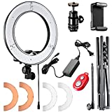 Neewer 12-Zoll-Innen- / 14-Zoll-Au�en LED-Ringlicht und Lichtstative 36W 5500K Beleuchtung Kit mit Soft Tube, Farbfilter, Hot-Shoe-Adapter, Bluetooth-Empf�nger f�r Kamera Smartphone Youtube Video Aufnehmen Bild