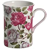 Maxwell & Williams S568462 Royal Old England Becher, Kaffeebecher, Tasse, Motiv: Teerose, in Geschenkbox, Porzellan