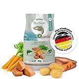 AniForte Natürliches Hunde-Futter Trockenfutter Fjord-Salmon 2kg, Frischer Lachs mit Kartoffeln, 100% Natur, Allergiker, Getreide-Frei, Glutenfrei, Ohne Chemie, künstliche Zusätze und Vitamine