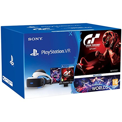 sony B07658SJ4M Sat-Zubehör Set Playstation 4, VR/PS Kamera / VR Worlds / GT Sport [Bundle] weiß