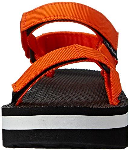 Teva Flatform Universal W, Sandales à plateforme femme Orange