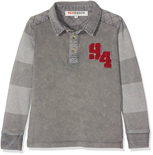 RED WAGON Jungen Rugbyshirt, Grau (Grey), 116 (Herstellergröße: 6 Jahre) (Ärmel Lange Streifen Rugby)