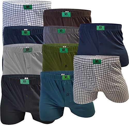 10er Pack Boxershorts für Herren Mix 10 verschiedene Farben Unterhosen für Männer Unterwäsche Herren Boxershort von SGS