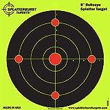 Confezione da 50 - 20,3 cm - Bullseye Splatterburst bersagli reattivi di tiro -Immediatamente vedere i tuoi colpi all'impatto - Perfetta per tutte le armi da fuoco, fucili, pistole e fucili d'aria!