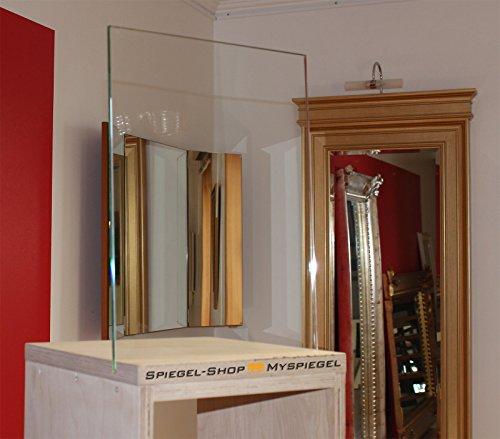 MySpiegel.de Glasplatte Glas 6mm 90x55 cm Polierte Kante Durchsichtig Klar Glasscheiben Glasboden Glaswand Glastisch