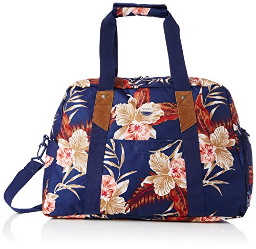 roxy-sugar-it-up-bolsa-de-tela-y-de-playa-color-azul-47-cm