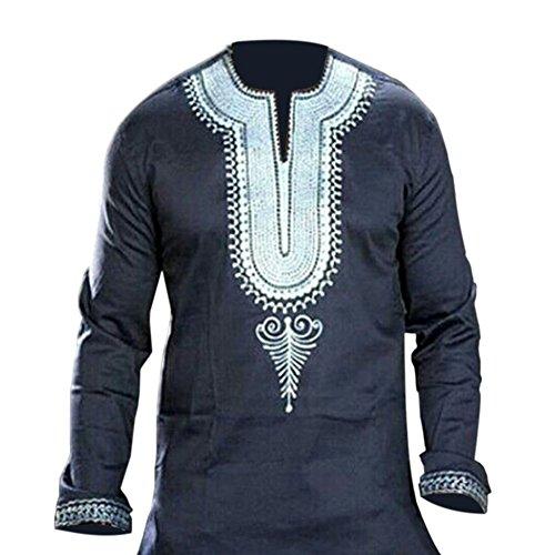 Haodasi Herren Afrika National Kleid Kostüme Hemd Gedruckt Lange Ärmel Dashiki Tradition Kleider
