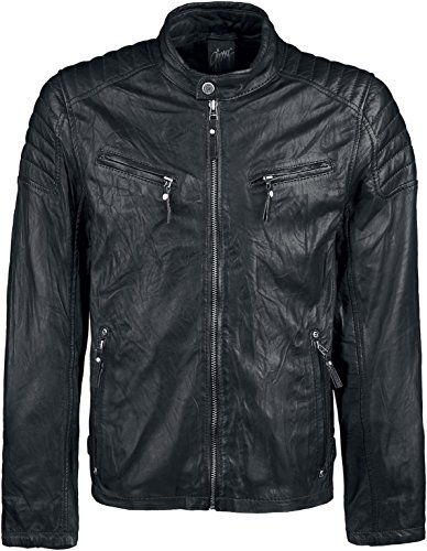 Gipsy Chester Leder-Jacke schwarz L