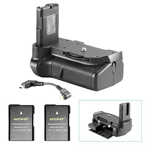 Galleria fotografica Neewer Pro - Battery grip funziona con batterie EN-EL14 + 2 pezzi di ricambio EN-EL14 batteria 7.4 V 1050 mAh per Nikon D5100 5200 D5300 DSLR