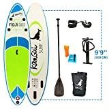 Kangui - Stand up Paddle sup gonflable + pagaie + sac à dos + pompe haute pression + leash + kit de réparation- FIDJI
