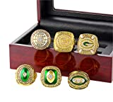 Quoouz Herren Fußball 1996 Gold Überzug Diamant Retro Schmuck Champion Einstellen Ringe,Größe 67 (21.3)