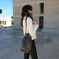 Cuero mochila bolsa de cubo bandolera artesanía italiana